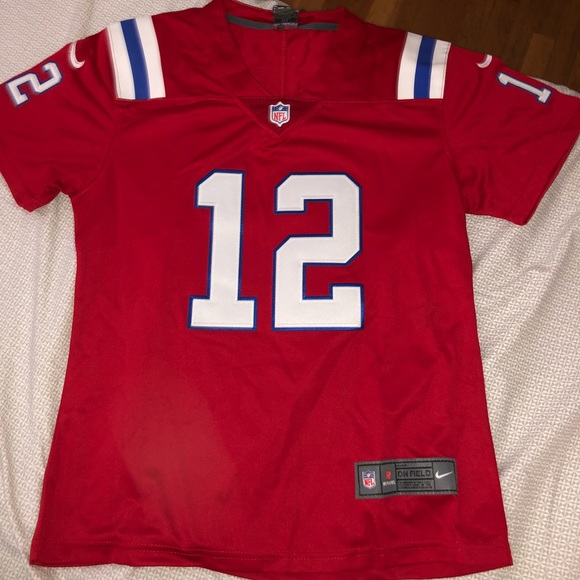 Authentic Womens Red Patriots Jersey - Brady 996097a52